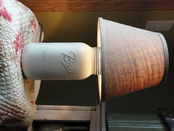 beach style mason jar lamp mason jar table lamp painted mason jar. Black Bedroom Furniture Sets. Home Design Ideas