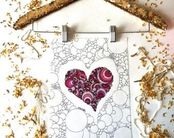 Heart Art Print - My Heart & My Soul