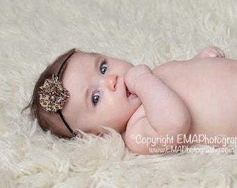Baby Headband, Leopard Headband, Black Headband, Brown Headband, baby leopard headband, flower headband, birthday headband, leopard clip