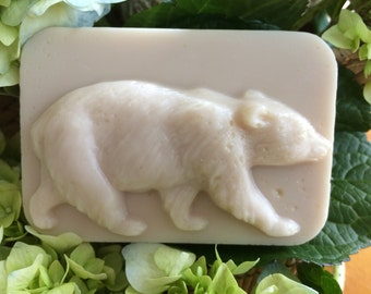 "Goat's  Milk and Shea Butter Soap - ""Bartlett the Black Bear"""