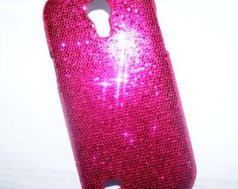Cover Fuchsia pink glitter Samsung galaxy S4 mini