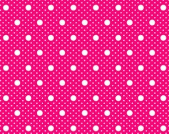 Sale - Pam Kitty Garden Fabric, Lottie Dots in Red, Half Yard, Lakehouse Dry Goods