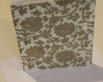 Striking Decorative Screen Printed Greeting Card and Envelope