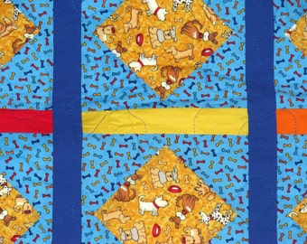 Throw Quilt For Kids Who Love Dogs!
