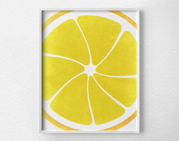 Https Www Etsy Com Listing 215752218 Lemon Print Citrus Print Citrus Decor