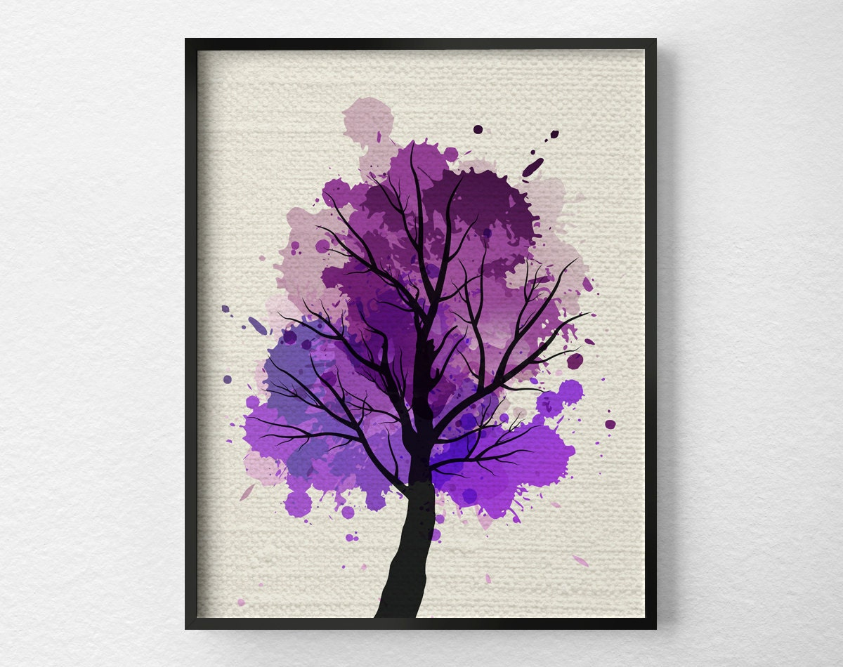 Tree wall art modern home decor fine art print modern art for Tree wall art