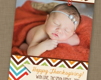 PRINTABLE Thanksgiving Photo Card