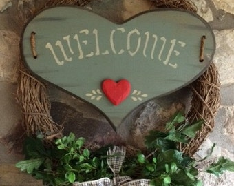 Welcome Door Wreath
