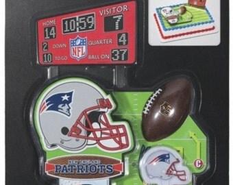 New England Patriots Cake Topper & Cupcake Picks