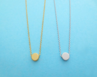 Small, Gold, Silver, Dot, Necklace, Karma, Necklace, Tiny, Circle, Jewelry, Birthday, Friendship, Sister, Graduation, Gift, Jewelry