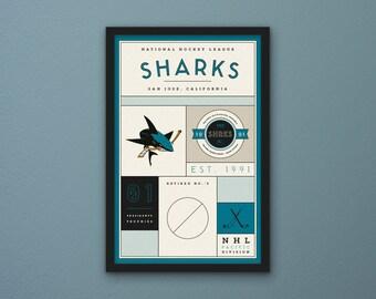 San Jose Sharks Stats Print