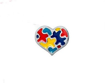 Autism autistic  awareness floating charm for glass pendant floating charm memory lockets.