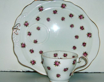 Aynsley Rose Tea and Toast Cup and Saucer