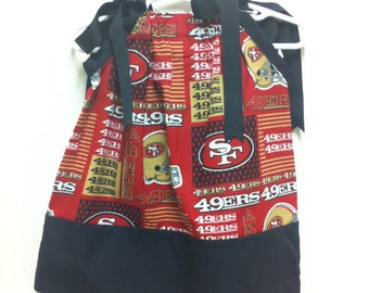 san francisco  49ers pillowcase dress