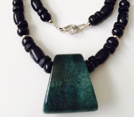 hawaiian style beaded necklace for w green agate