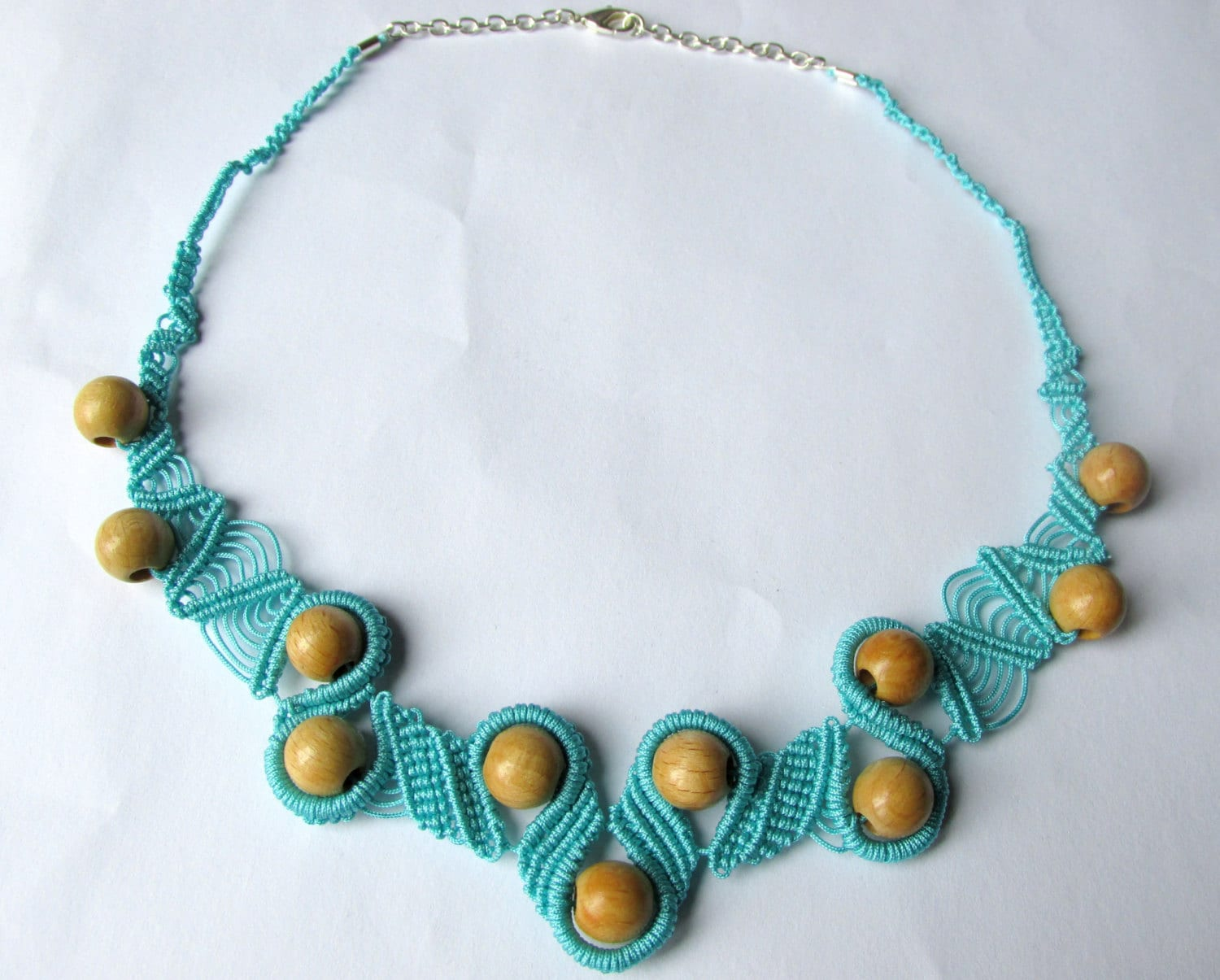 micro macrame jewellery macrame necklace micro macrame necklace wood 4757