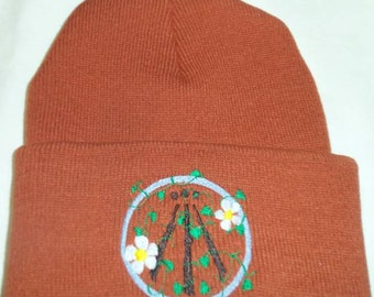 Nortic Druid Awen Beanie hat Wiccan Pagan
