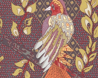 A Wandering Mind - Persian Feathers Gold - 1/2 yd