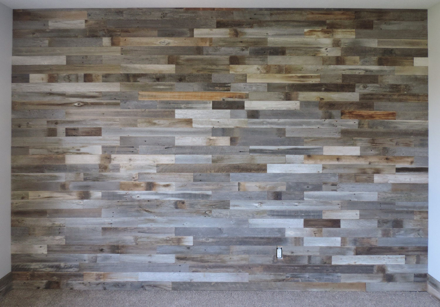 Wooden Wall Boards : Reclaimed wood wall paneling diy asst inch boards by