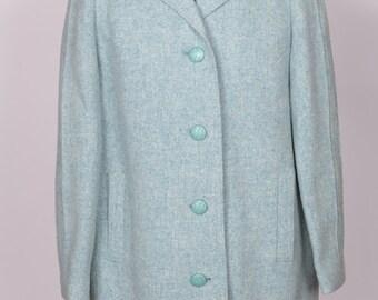 Ladies vintage baby blue coat UK 10