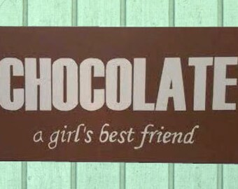 Hand-Painted Chocolate Vintage-Style Sign