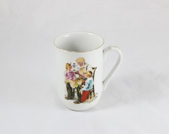 The Toy Maker Norman Rockwell Cup