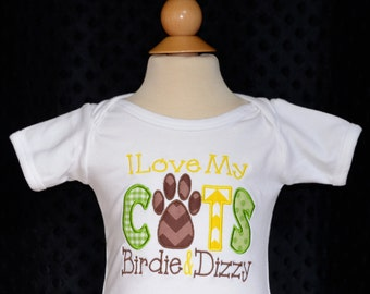 Personalized I Love My Dog Applique Shirt or Onesie Boy or Girl