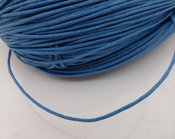 10 meters x 1.5mm Blue Waxed Cotton Cord, Craft Supplies, Cord, UK Seller (FFC5047)