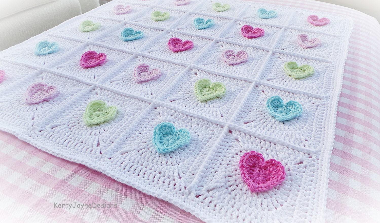 All heart crochet blanket pattern baby blanket pattern crochet zoom bankloansurffo Choice Image
