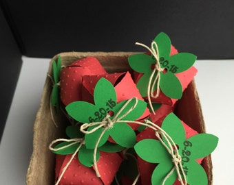 Strawberry boxes, favors, gifts- Can be personalized!