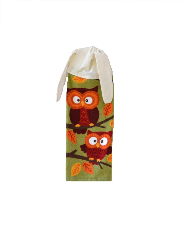 owl hand towel wisconsin made kitchen hand towel