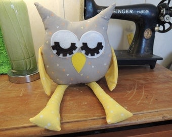 Fabric Owl Pillow or Shelf Sitter