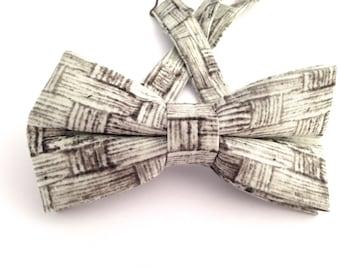 Basket weave bow tie, basket wave necktie, basket weave bow tie,bow tie, Father's Day Gift, basket weave ties, weave pattern bow,