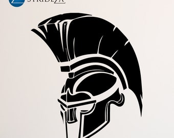 Spartan helmet, spartan armor, spartan wall decal, spartan wall decal, spartan decal, spartan wall decor, spartan decorations, D00026.