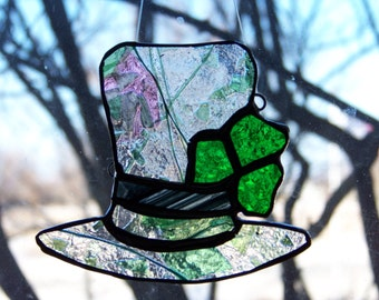 Stained Glass Lepruchan's Hat