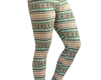 Women Custom Patterned Print Tights/Leggings-Aztec Print