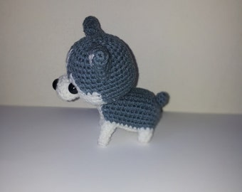 Puppy Siberian Husky Amigurumi Dog, Doll Crochet Dog Handmade, Crochet dog, brithday gift, christmas gift.