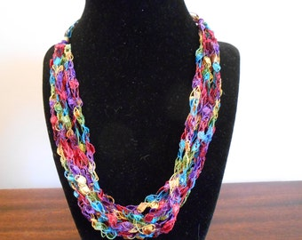 Trellis Necklace / Crochet Necklace Item No. 111 Perfect for Easter or Mother's Day