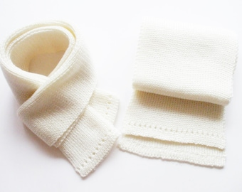 Babies/Children's knitted merino wool scarf