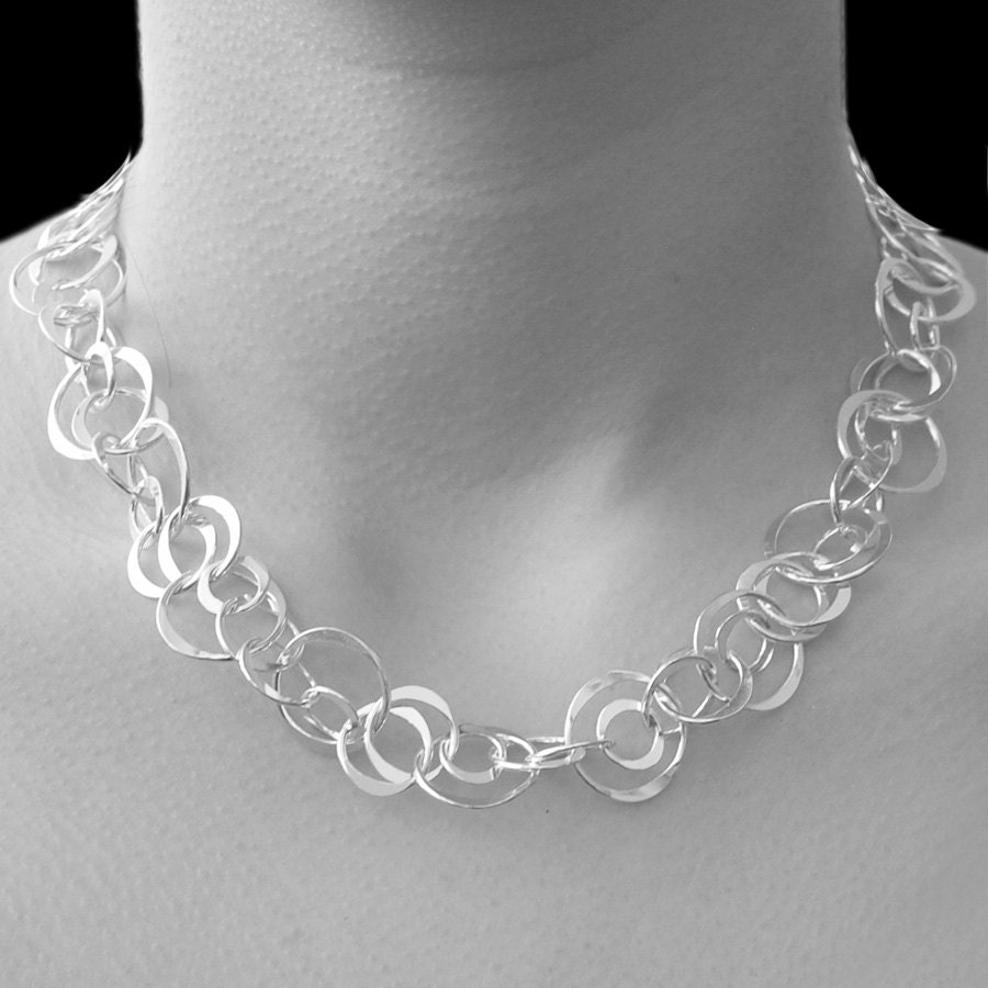 Silver Necklace Statement Necklace Sterling Silver Necklace