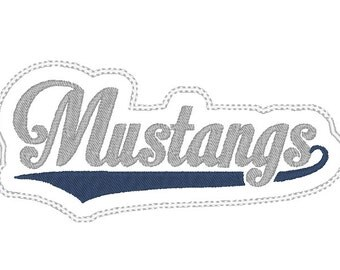 Mustangs Headband Slider design Instant Download