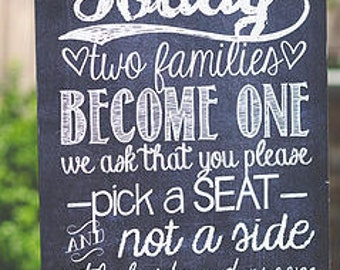 Chalkboard Wedding Sign - Instant Download