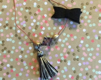 "Toddler/Child  limited addition ""babies night out"" tassel necklace"