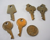 Vintage various luggage keys, American Tourister, five keys, vintage travel luggage