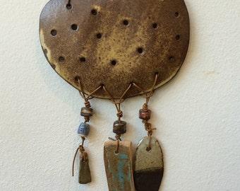 "Ceramic Wall Hanging ""Peaceful Warrior"""