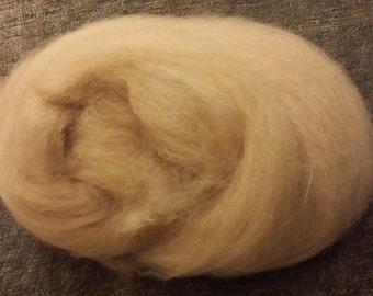 Alpaca / Cashmere / Silk - Hand Carded Batt - Fawn - 2 oz