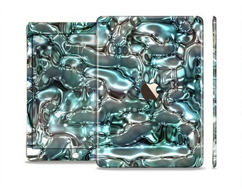 The Teal Mercury Skin Set for the Apple iPad (All Models Available)