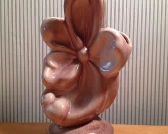 Vintage Gonder Pottery Bow Vase
