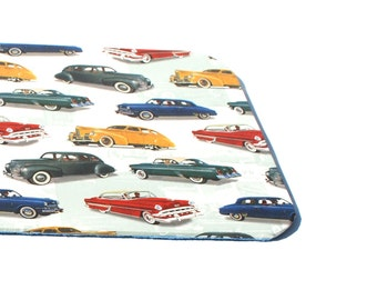 mouse pad, coaster, stacker, oldtimer, office, handmade