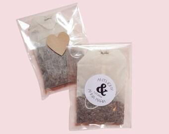 50 Tea favors - wedding shower tea favors with circle design